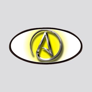 Atheist Logo (yellow) Patches
