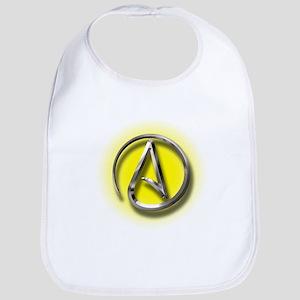Atheist Logo (yellow) Bib