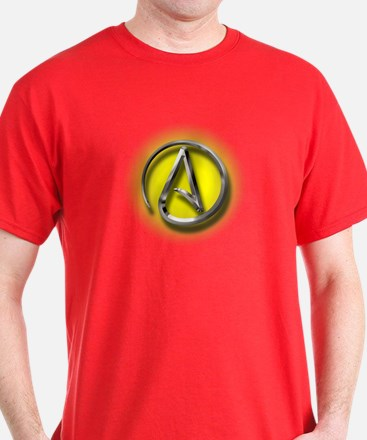 Atheist Logo (yellow) T-Shirt