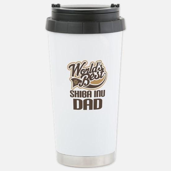 Shiba Inu Dad Gift Stainless Steel Travel Mug