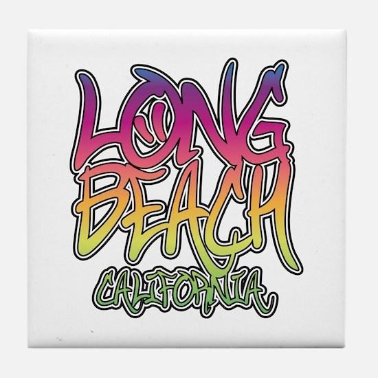 Long Beach Graffiti Tile Coaster