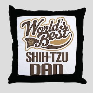 Shi-Tzu Dad Throw Pillow