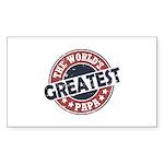 Worlds Greatest Papa Sticker (Rectangle 10 pk)