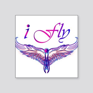 "I believe I can fly, iFly Square Sticker 3"" x 3"""