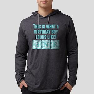 What A Birthday Boy Looks Like Mens Hooded Shirt