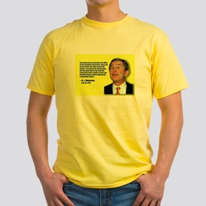 Bush is a downright moron Mencken Yellow T-Shirt