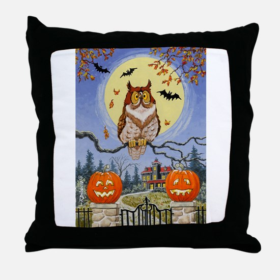 Trick or Treat Street Throw Pillow