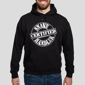 Certified Snake Handler Black Hoodie (dark)