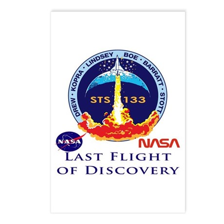 Last Flight of Discovery Postcards (Package of 8)