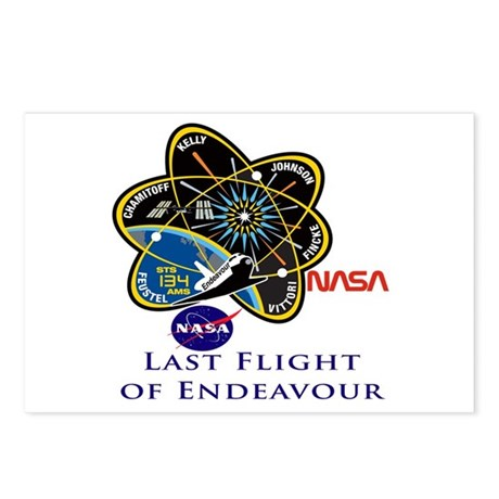 Last Flight of Endeavour Postcards (Package of 8)