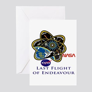 Last Flight of Endeavour Greeting Cards (Pk of 10)