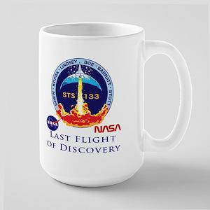 Last Flight of Discovery Large Mug