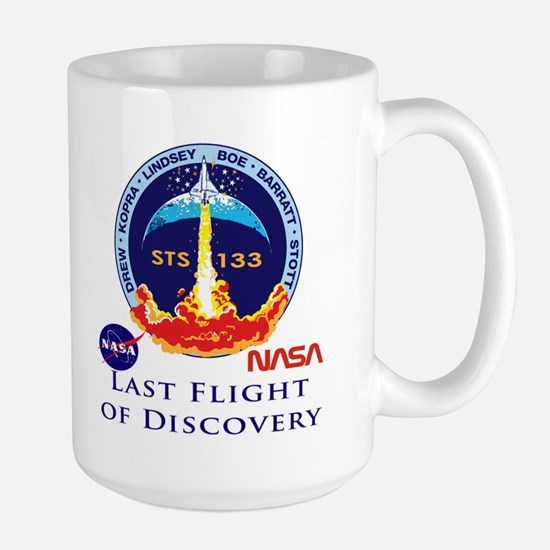 Last Flight of Discovery Large Mug