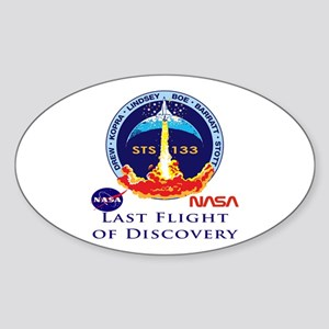 Last Flight of Discovery Sticker (Oval)