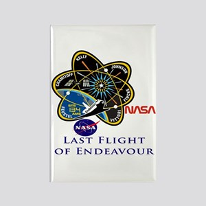 Last Flight of Endeavour Rectangle Magnet
