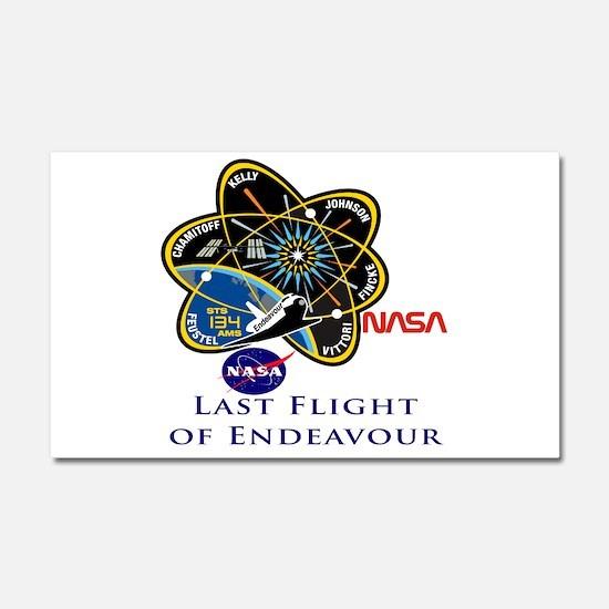 Last Flight of Endeavour Car Magnet 20 x 12