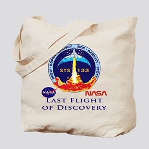Last Flight of Discovery Tote Bag