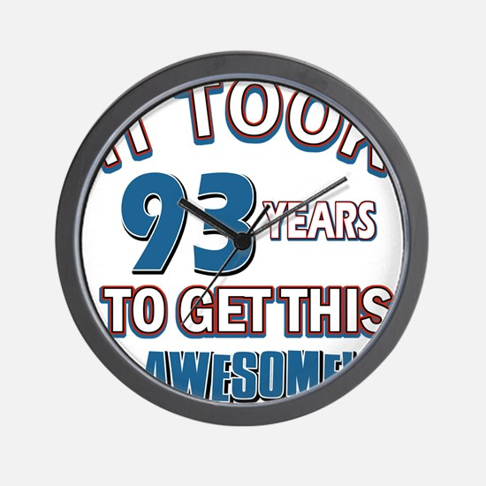 Awesome 93 year old birthday design Wall Clock