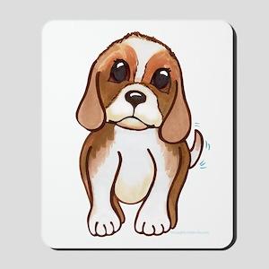 Cute beagle pup Mousepad