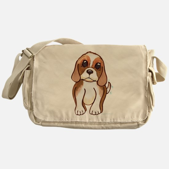 Cute beagle pup Messenger Bag