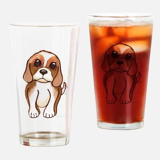 Cute beagle pup Drinking Glass