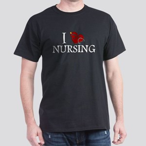 I Love Nursing Dark T-Shirt