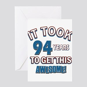 Awesome 94 year old birthday design Greeting Card