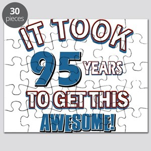 Awesome 95 year old birthday design Puzzle