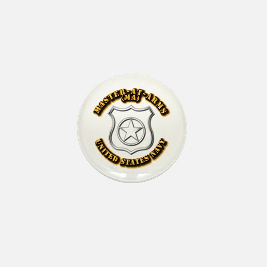 Navy - Rate - MA Mini Button