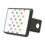 Rainbow Pig Pattern Rectangular Hitch Cover