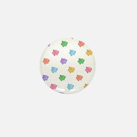 Rainbow Pig Pattern Mini Button
