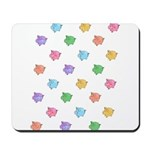 Rainbow Pig Pattern Mousepad