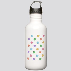 Rainbow Pig Pattern Stainless Water Bottle 1.0L