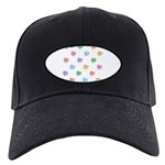 Rainbow Pig Pattern Black Cap