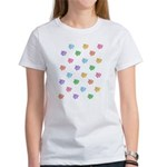 Rainbow Pig Pattern Women's T-Shirt