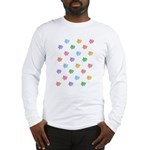 Rainbow Pig Pattern Long Sleeve T-Shirt
