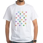 Rainbow Pig Pattern White T-Shirt
