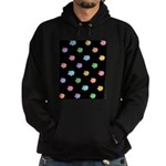 Rainbow Pig Pattern on Black Hoodie (dark)