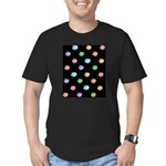 Rainbow Pig Pattern on Black Men's Fitted T-Shirt