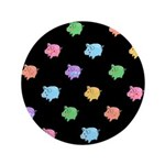 Rainbow Pig Pattern on Black 3.5