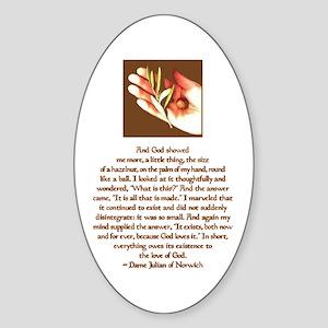 Hazelnut Oval Sticker