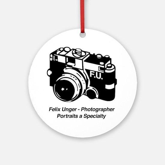 Felix Unger Photographer Ornament (Round)