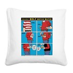 Holiday Diet Square Canvas Pillow