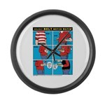 Holiday Diet Large Wall Clock