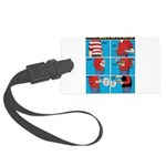 Holiday Diet Large Luggage Tag