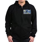 Thanksgiving Turkey Scary Zip Hoodie (dark)