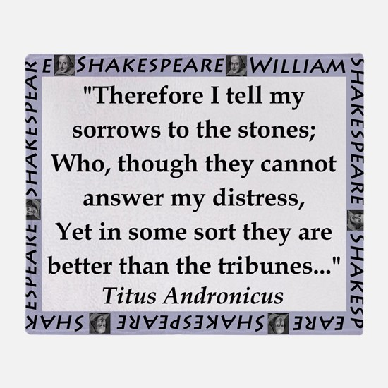 Therefore I Tell My Sorrows Throw Blanket