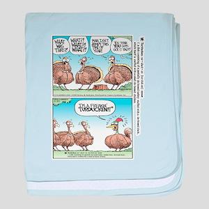 Thanksgiving Turkey Turducken baby blanket