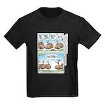 Thanksgiving Turkey Turducken Kids Dark T-Shirt