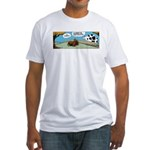 Thanksgiving Turkey Tired Fitted T-Shirt